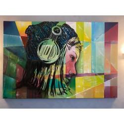 Femme au bord de la fenêtre